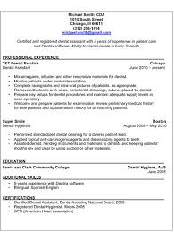 Rda Resume Examples by Dental Assistant Resume Template