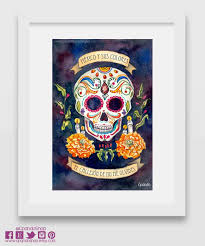 dia de los muertos home decor sale day of the dead decoration catrina print sugar skull
