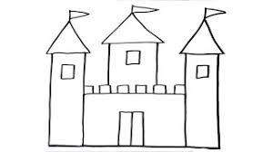 how to draw a castle for kids cute castle drawing lesson step by