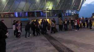 nxt liverpool outside echo arena after event youtube