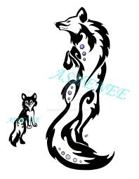 jumping and crazy wolf tattoo design on paper golfian com