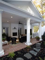 Outdoor Column Light by Other Design Simple And Neat Image Of Front Porch Decoration
