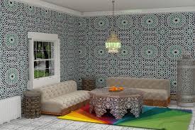 3d modern moroccan living room on behance living room decor