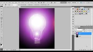 light up the bulb in photoshop using lens flare youtube