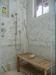 Teak Wood Shower Bench Bathroom Shower With Marble Wall Tiles And Teak Wood Shower Bench