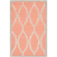 Coral Area Rugs Safavieh Cambridge Coral Ivory 8 Ft X 10 Ft Area Rug Cam352w 8
