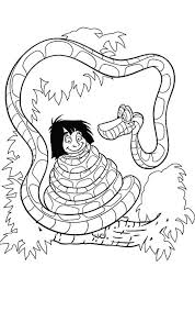 mowgli entangled kaa jungle book coloring pages bulk color