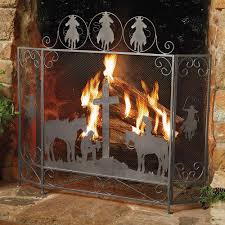 western rustic fireplace screens new lighting rustic fireplace