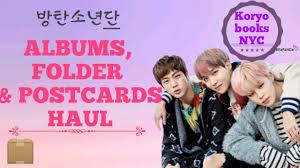 photo albums nyc kpop haul unboxing bts albums folder postcards koryo books