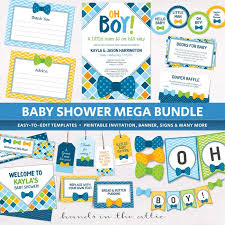 bow tie baby shower decorations baby shower packages archives printable stationery weddings