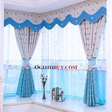 Kids Room Blackout Curtains Thick Polyester Fabric Bay Window Curtain Of Blackout Curtain For