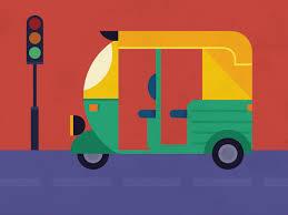 geometric illustration hyderabad auto rikshaw www joby in