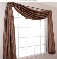 How To Hang Bay Window Curtains Window Scarf Valance Bay Window Valances Home Bedroom Decor