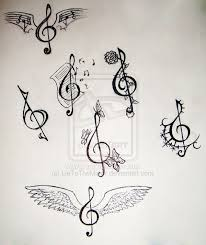 cute bass treble clef tattoo design tattoomagz