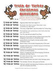 or turkey trivia 6 95 printable