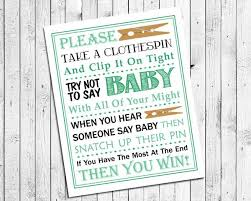 clothespin baby shower mint green clothespin printable for baby shower instant