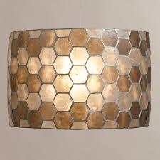 Drum Pendant Lighting Honeycomb Capiz Drum Pendant Lamp Drum Pendant Honeycombs And