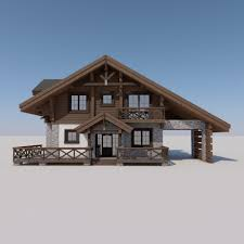 european chalet houses 4 in 1 collection 3d model cgstudio