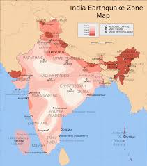 India Map Of States by Earthquake Zones Of India Wikipedia