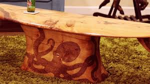 Surfboard Coffee Table Made In New Zealand The Octopus Surfboard Coffee Table