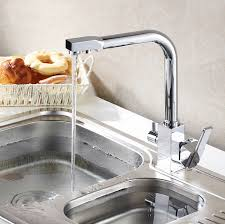 Sink Filtered Water Faucet Aliexpress Com Buy Water Filter Kitchen Faucet 3 Way Kitchen