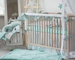 Crib Bedding Set With Bumper Cradle Bedding Etsy