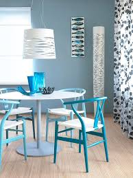 Dining Room  BEACH STYLE DINING ROOM IN CLASSY BLUE AND WHITE - Blue and white dining room