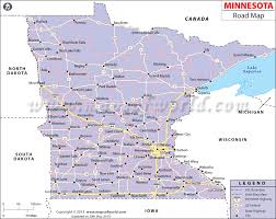Minnesota travel distance images Road map gif