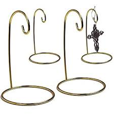 ornament stand set of 4 gold metal wire