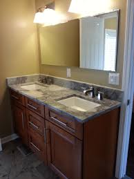 bathroom jack and jill bathrooms with l shaped wooden vanity and