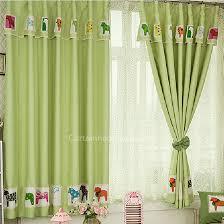 rideaux chambres enfants cheval décoratif aqua enfants chambre imprimer fenêtre rideaux