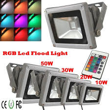 Color Changing Landscape Lights Rgb Led Flood Light 10w 20w 30w 50w Ac85 265v Waterproof Outdoor