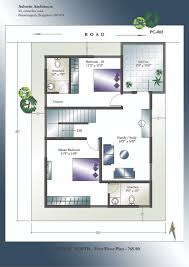 30x40 duplex house floor plan awesome x plans north facing pre