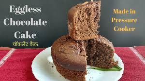 eggless chocolate cake recipe how to make cake in pressure
