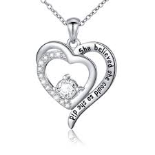 inspirational pendants inspirational pendants jewelry sterling silver she believed could so