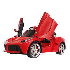 laferrari engine licensed la electric ride on car 1 4 lights 6v battery