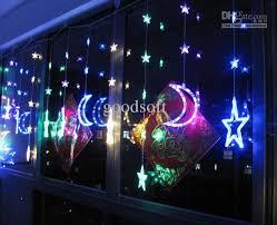 cheap moon led light string balcony l kitchen window