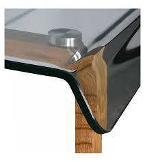 table de bureau en verre bureau verre et bois scandinave vintage