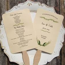 fans for wedding programs wedding program fan wedding programs wedding fans