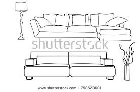 three sofas isolated on white backgroundvector stock vector