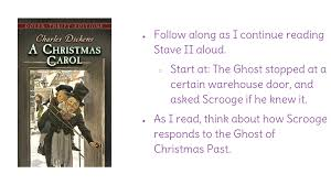 lesson 9 summarize scrooge u0027s interaction with the ghost of