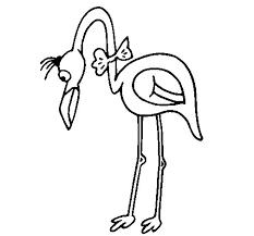 flamingo with bow tie coloring page coloringcrew com