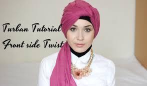 tutorial hijab nabiilabee turban tutorial front side twist nabiilabee youtube