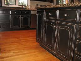 black distressed kitchen island handpained and distressed black kitchen cabinetry