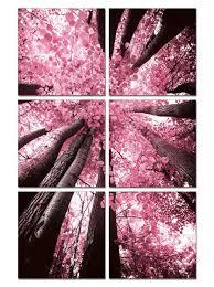 blossom trees 6 panel photo on canvas