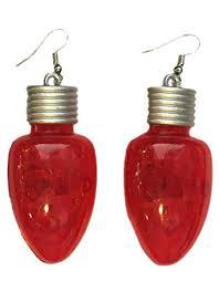light up christmas earrings amazon com two s company christmas novelty apparel pretty ugly