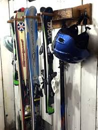 hand crafted rustic ski rack napa valley wine barrel staves