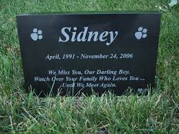 pet memorial your pets photo engraved on a pet memorial headstone marker
