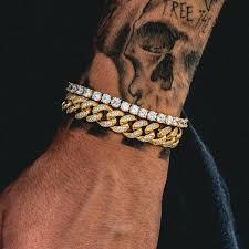 cuban bracelet images Diamond cuban link 10mm tennis bracelet bundle the gld shop jpg