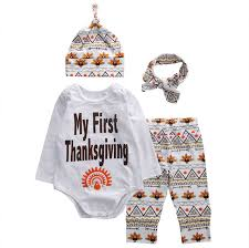 My Thanksgiving Newborn Thanksgiving Newborn Infant Baby Boy Clothes Letter